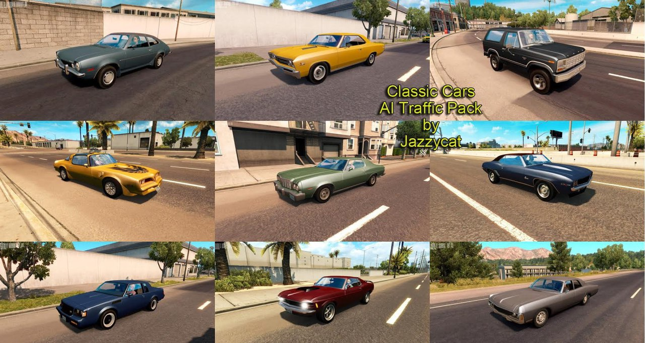 Classic Cars AI Traffic Pack by Jazzycat v 1.3