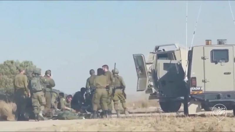 Вывоз тела израильского оккупанта, ликвидированного палестинским снайпером 20 июля 2018 :