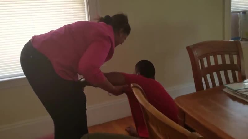 Son falls to his knees in tears after being surprised by him Mom who he hasn't seen in over a decade