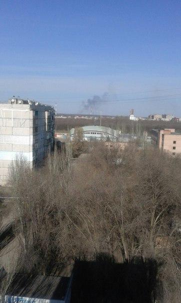 Луганчане паникуют из-за столба дыма в восточной части города, фото-2