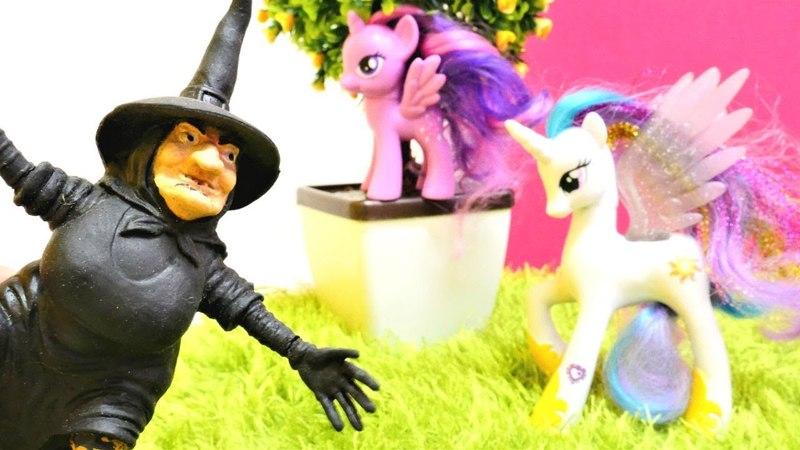 My Little Pony. Prenses Celestia Twilight Sparkle için yardım ediyor