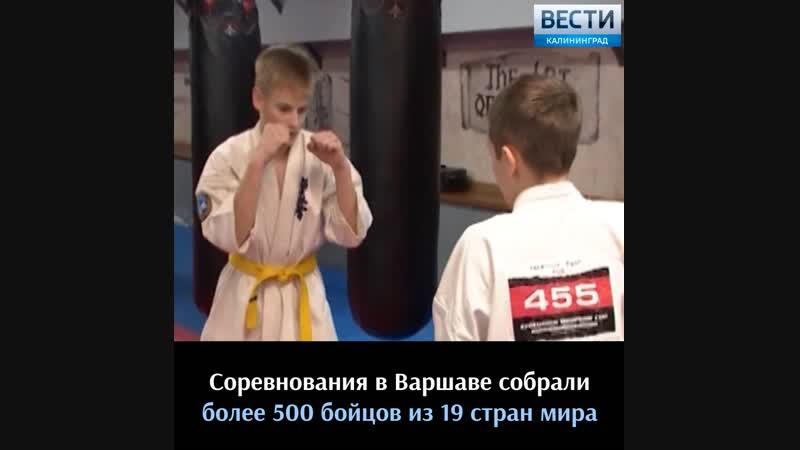 Калининградские спортсмены взяли золото и серебро Кубка Европы по карате среди юниоров