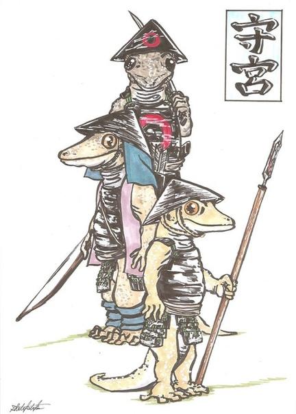 Иллюстрации с монстрами из японского фольклора. Япония имеет довольно богатый фольклор, и мифологические персонажи играют в ней очень большую роль. Даже сегодня рассказы об этих существах очень