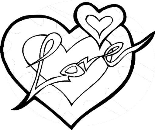 Красивые раскраски сердец