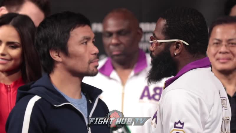 Manny Pacquiao vs Adrien Broner Face Off
