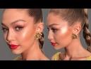 Gigi Hadid Bronze Gold and Bold Lip Makeup Tutorial Eman
