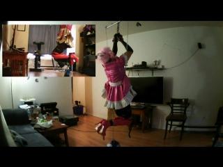 Sissy_sluts_self_bondage_suspension_720p