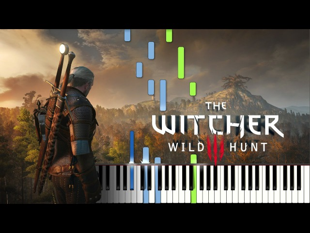 The Witcher 3 Wild Hunt Piano Medley - Sheet Music Midi (Synthesia)