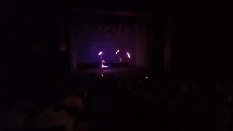 Світлодіодне шоу. Театр Вогню Flamberg ( Ужгород, Закарпаття, Україна)
