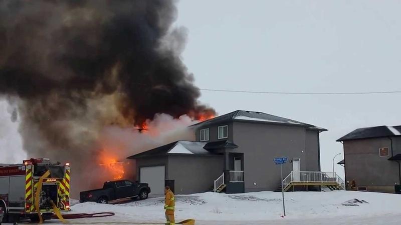 House Fire Regina, Sask Feb 1st 2014,