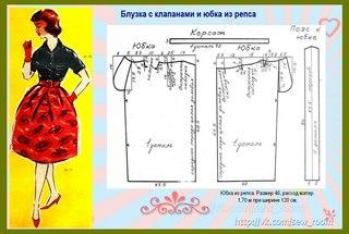 Как сшить юбка колокол своими руками 36