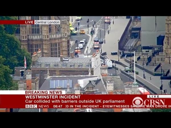 Car crashes into gate of U.K. parliament in London