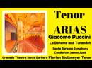 Che gelida manina and Nessun Dorma by Florian Stolllmayer Tenor (Santa Barbara July 2, 2019)