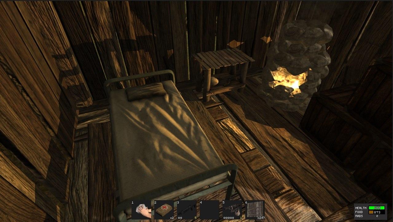 Кровати и спальные мешки в игре Rust