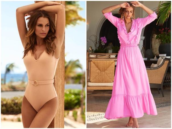 Подборка красивой пляжной женской одежды и самых модных купальников.