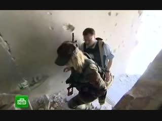 Женская рота снайперов регулярной армии Сирии