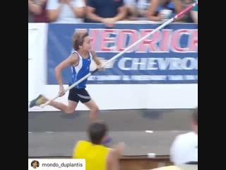 Арманд Дуплантис - в 10 лет прыгает 3,86!