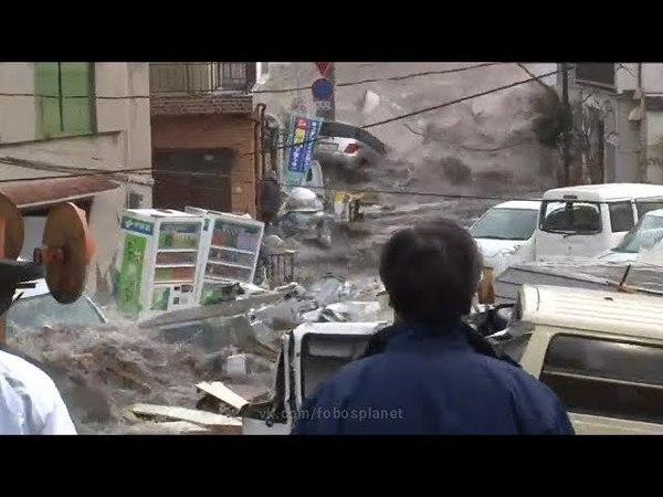 ЦУНАМИ В ЯПОНИИ.Кадры очевидцев c оригинальным звуком   Tsunami in Japan. Eyewitness footage.