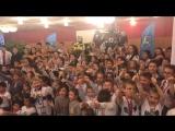 Восторг огромного количества детей из разных городов на олимпиаде в г. Москва.