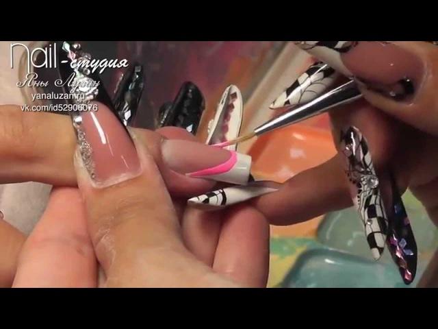 как красиво нарастить ногти гелем