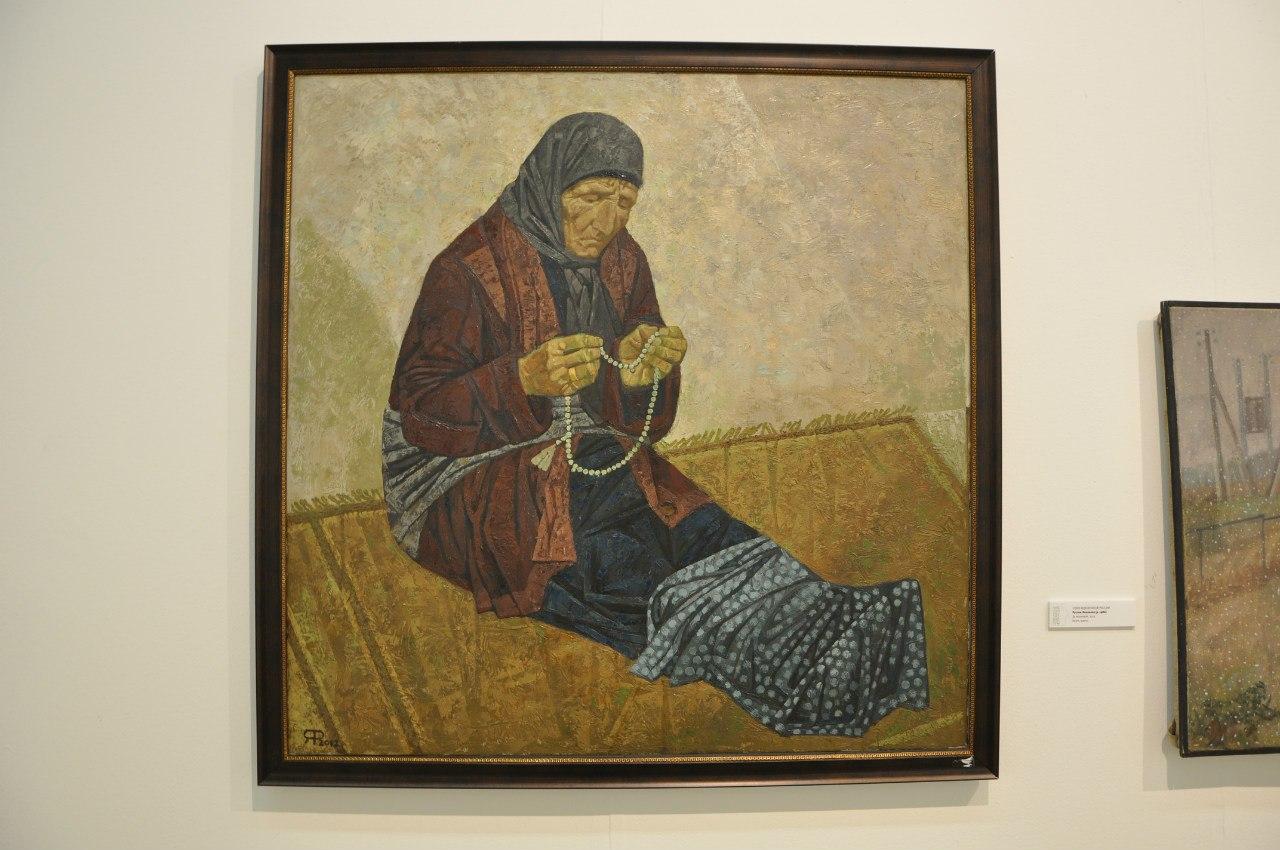Союз художников России  Рустам Яхиханов (р. 1986)  За молитвой. 2012  Холст, масло