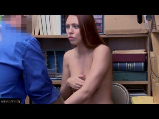 Morgan rodriguez aka ornella morgan [ redhead &  in the office &  with talk / hidden camera , robber , cumshot in mouth , with t