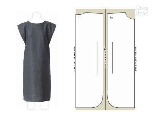 Простые платья. Выкройки. (8 фото) - картинка