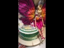 Торт с куклой Барби