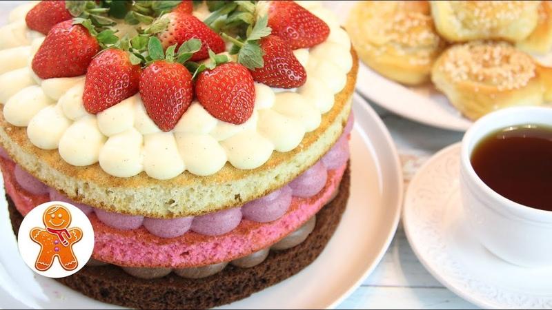 Неаполитанский Трехцветный Торт