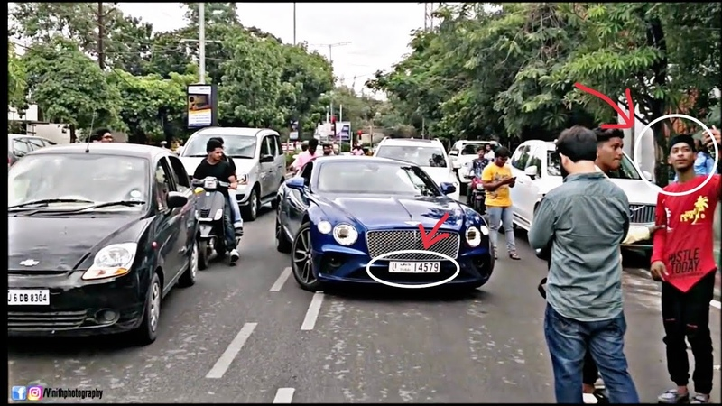 Dubai's 2018 BENTLY continental GT create CHOS in HYDERABAD (INDIA)