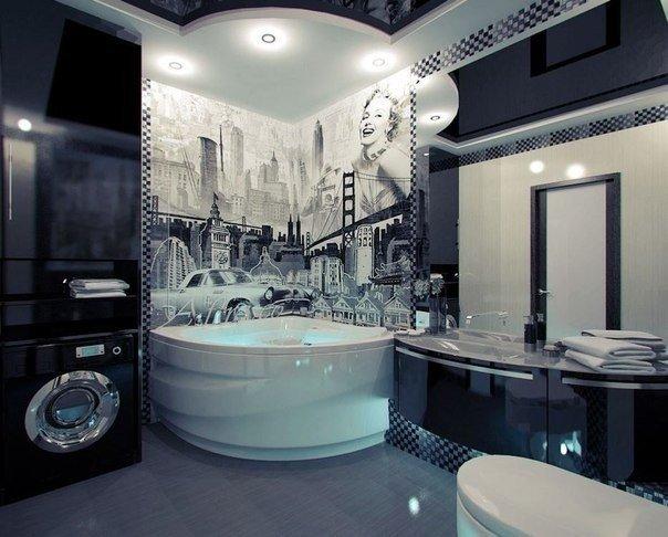 Стильная ванная комната (1 фото) - картинка