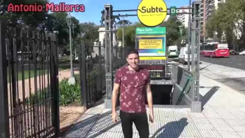 Anotnio Mallorca ME PILLO UNA FAN EN EL SUBTE DE ARGENTINA @diammond.margot.mp4