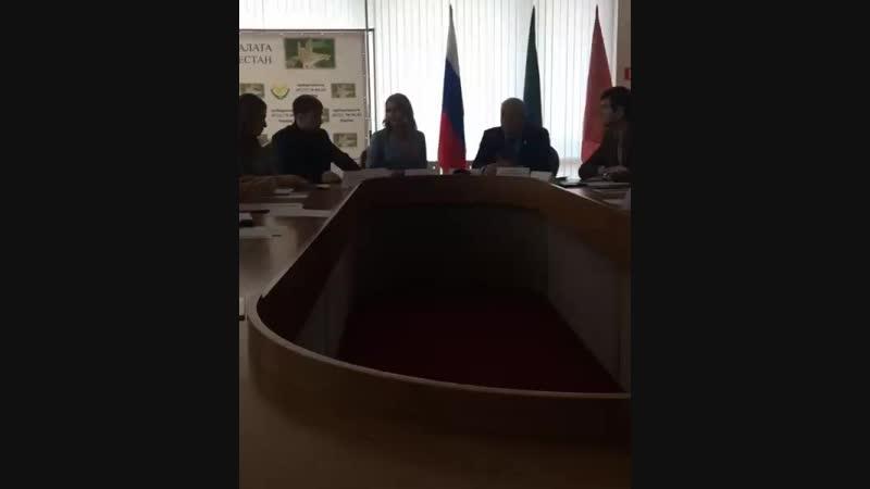 С Ириной Васильевной и зам. Председателем Республики Анатолий Карибов