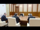 경애하는 최고령도자 김정은동지께서 우리 나라를 방문한 미합중국 국무장관을 접견하시였다