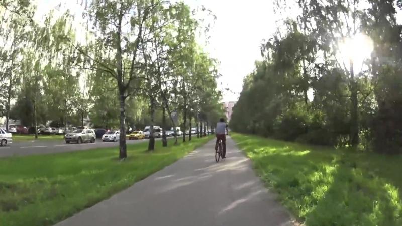 Шикарная вело прогулка в парк летом (часть 2)