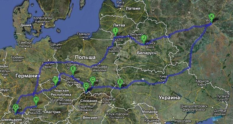 Из Москвы до Иркутска: расстояние между городами (км