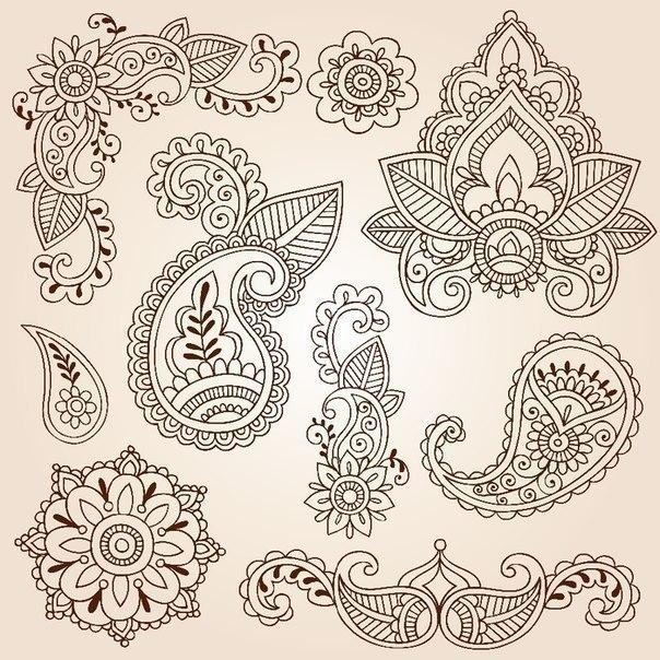 Шаблоны для росписи хной