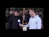 Новое. Ляшко порвал и разорвал на куски флаг ДНР. Мариуполь. 13.06.2014.