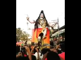 Lord shiva amazing dancing statue in india