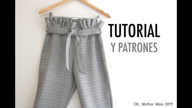 Aprender a coser Pantalones Paper Bag para mujer patrones gratis смотреть онлайн без регистрации