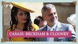 David Beckham e Victoria + George Clooney e Amal casais chegam a Windsor Casamento Real