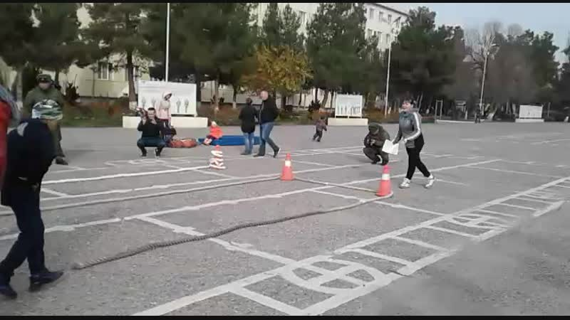 5 декабря 2018. Зарница на плацу в базе. Первоклашек