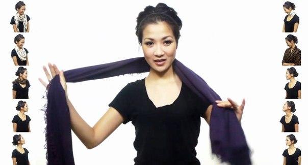 25 простых способов завязать шарф: ↪ Не видео, а сокровище! Особенно в преддверии весны.