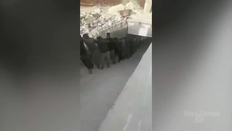 Боевики группировки Ахрар Шаркия пришедшие на помощь к Шухада Шаркия во время боев против ВС Турции и Дивизии Хамзы в Афр