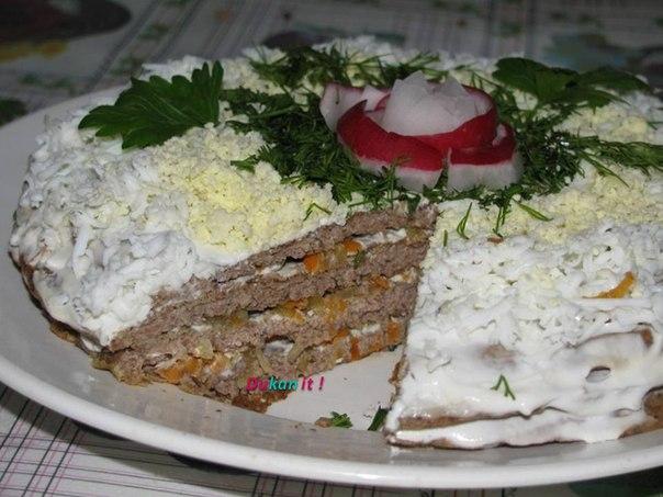Печеночный торт по дюкану рецепт