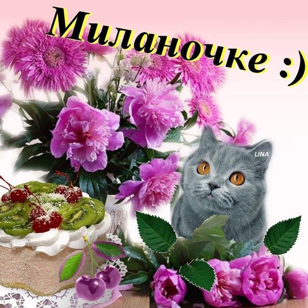 С днем рождения поздравления милана