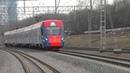 Электропоезд ЭГ2Тв-001 Иволга ТЧ-50 приг. поезд № 6975, Москва - Усово.