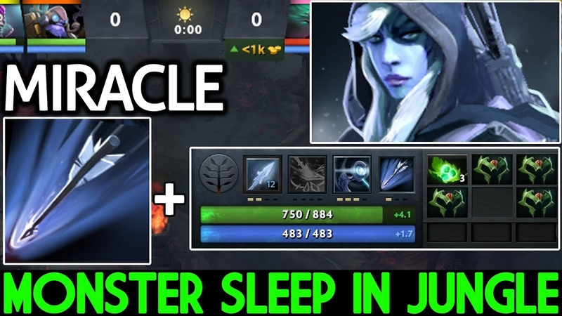 Miracle- [Drow Ranger] Monster Sleep in Jungle from the 0:00 7.20 Dota 2
