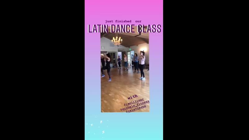 Лилимар посетила мастер-класс по латинским танцам (19.06)