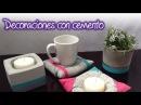Macetas y base porta velas y porta tazas de Cemento